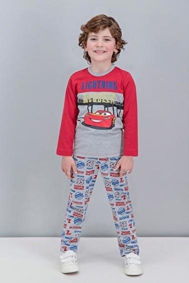 Cars Cars Lisanslı Grimelanj Erkek Çocuk Pijama Takımı Kırmızı